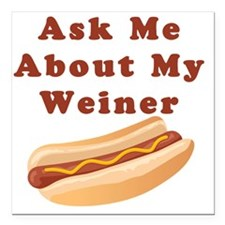 "weiner Square Car Magnet 3"" x 3"""