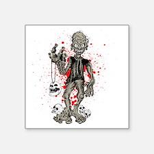 "zombie_002 Square Sticker 3"" x 3"""