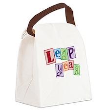 leap year baby_dark Canvas Lunch Bag