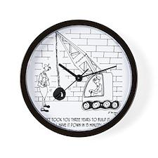 6384_demolition_cartoon_EK Wall Clock