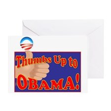 thumbs up Obama2 Greeting Card