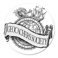 Geocachers Society Round Car Magnet