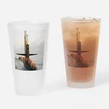 narwhal framed panel print Drinking Glass