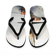 narwhal framed panel print Flip Flops