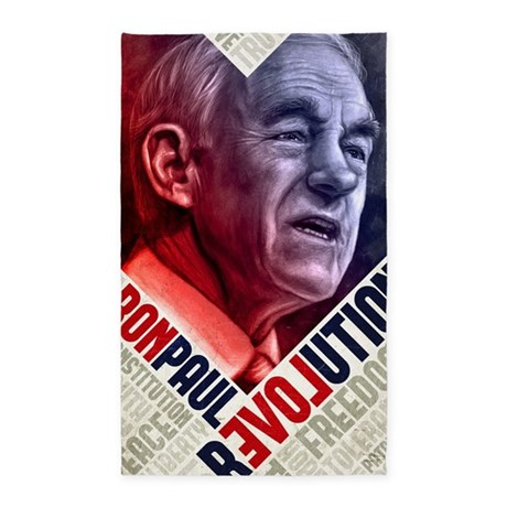 23x35 Ron Paul Revolution Poster 3'x5' Area Rug