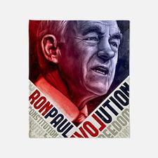 23x35 Ron Paul Revolution Poster Throw Blanket