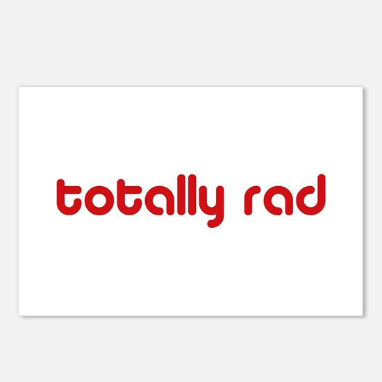Red 80s Totally Rad Postcards (Package of 8)