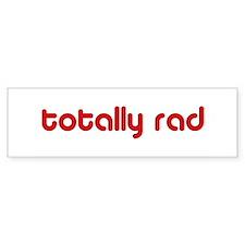 Red 80s Totally Rad Bumper Bumper Sticker