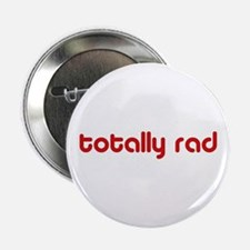 Red 80s Totally Rad Button