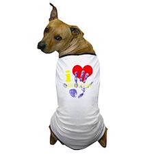 I HEART CH DENIM FOR DARK NEUTRAL SHIR Dog T-Shirt