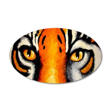 tigereyes 35x21 Oval Wall Decal