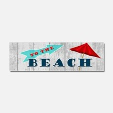 To The Beach Car Magnet 10 x 3