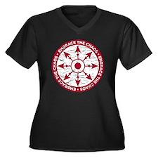 Embrace the  Women's Plus Size Dark V-Neck T-Shirt