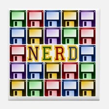 NERD_dark Tile Coaster
