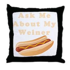weiner2 Throw Pillow