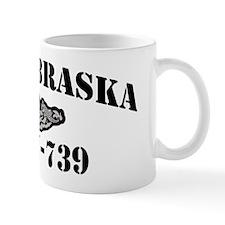 nebraska black letters Mug