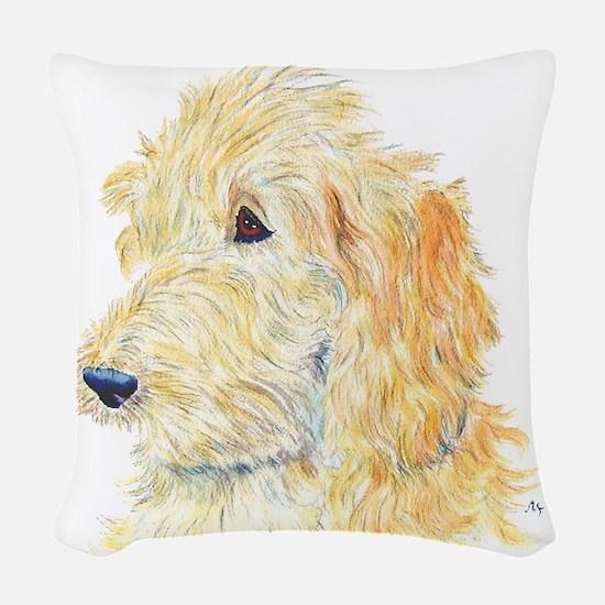 creamlabradoodle Woven Throw Pillow
