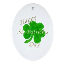 Happy St. Patrick's Day Oval Ornament