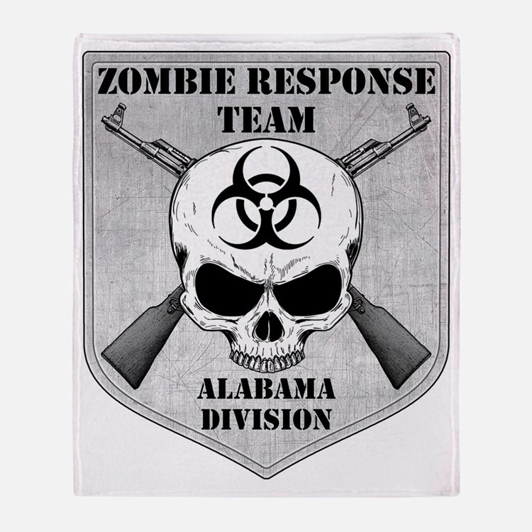 Zombie Response Team Alabama Throw Blanket
