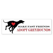 greyhound friend Bumper Sticker