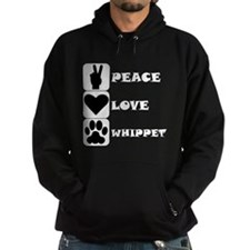 Peace Love Whippet Hoodie