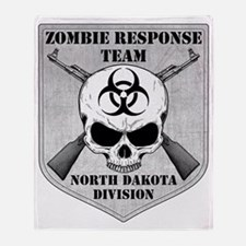 Zombie Response Team North Dakota Throw Blanket