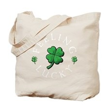 StPat FEEL LUCKY DkGreen shirt Tote Bag
