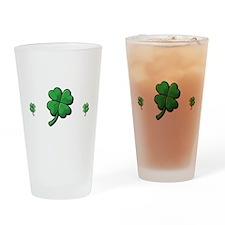 StPat FEEL LUCKY DkGreen shirt Drinking Glass