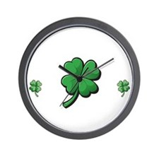 StPat FEEL LUCKY DkGreen shirt Wall Clock