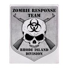 Zombie Response Team Rhode Island Throw Blanket