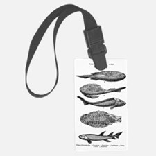 FISH FOSSILS Luggage Tag