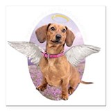 Dog with wings Square Car Magnets