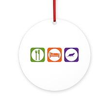Eat Sleep Ocicat Ornament (Round)