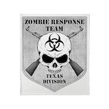 Zombie Response Team Texas Throw Blanket