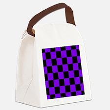 menswalletpurpcheckerboardpng Canvas Lunch Bag