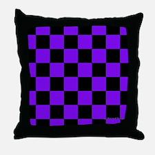 menswalletpurpcheckerboardpng Throw Pillow