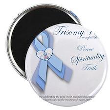 Trisomy 18 Awareness Ribbon (Peace, Spiritu Magnet