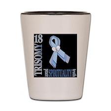 Trisomy 18 Awareness Ribbon (Black Desi Shot Glass