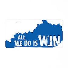 kentucky win blue Aluminum License Plate