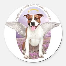 angelwithwings3 Round Car Magnet