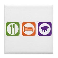 Eat Sleep Pixie-Bob Tile Coaster