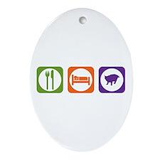 Eat Sleep Pixie-Bob Oval Ornament