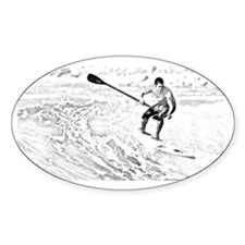 sup surfing sketch Decal