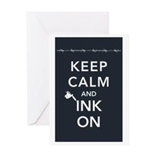 ink on poster Greeting Card