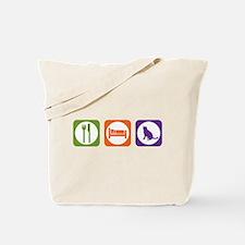 Eat Sleep Blue Tote Bag