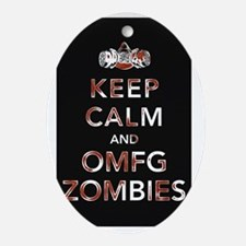 omfg-zombies-poster Oval Ornament