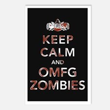 omfg-zombies-poster Postcards (Package of 8)