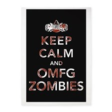 omfg-zombies-poster 5'x7'Area Rug
