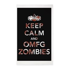 omfg-zombies-poster 3'x5' Area Rug
