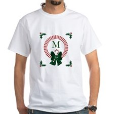 Dot Christmas Wreath Monogram T-Shirt